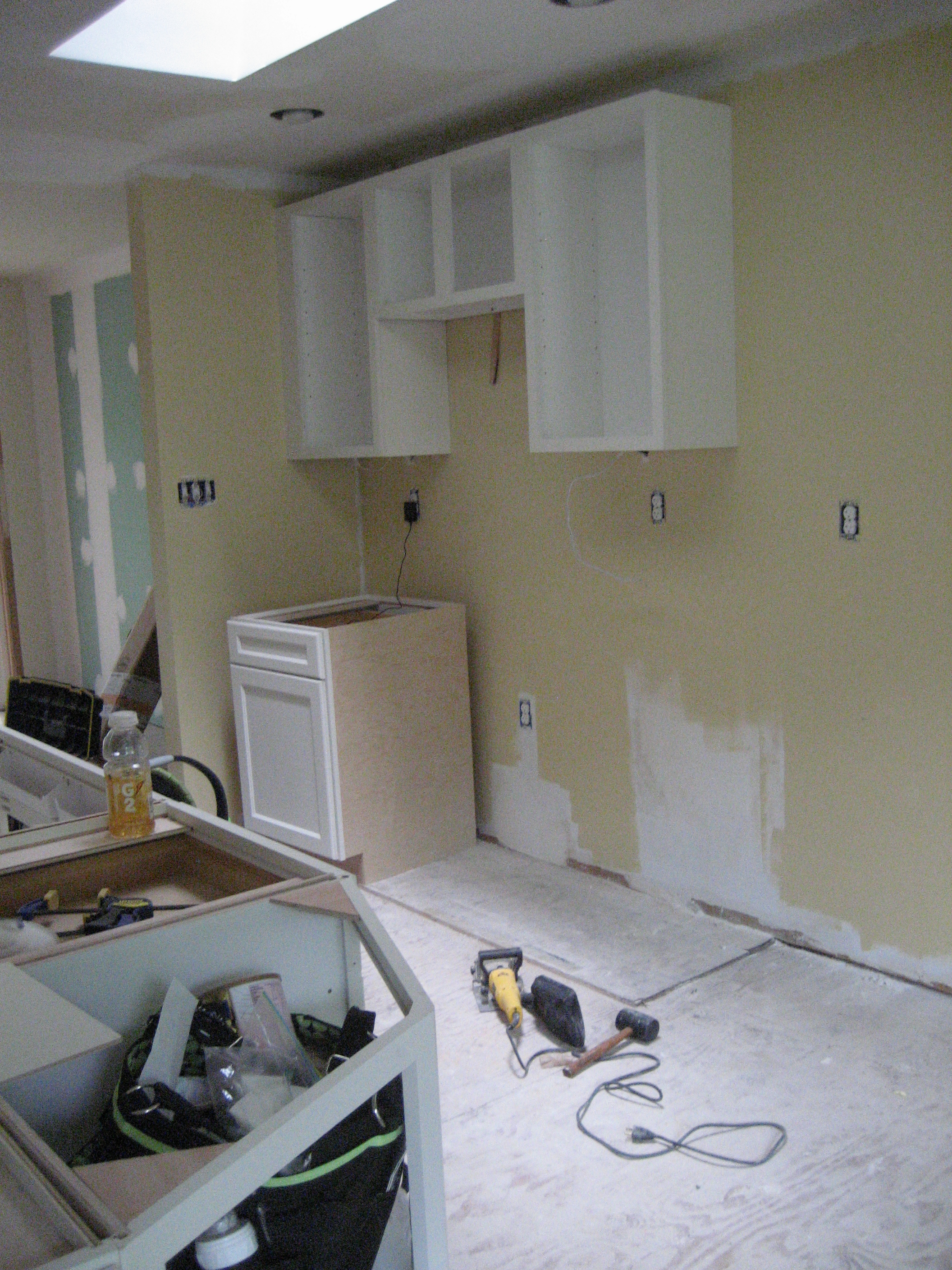 Kitchen Cabinets Going Up