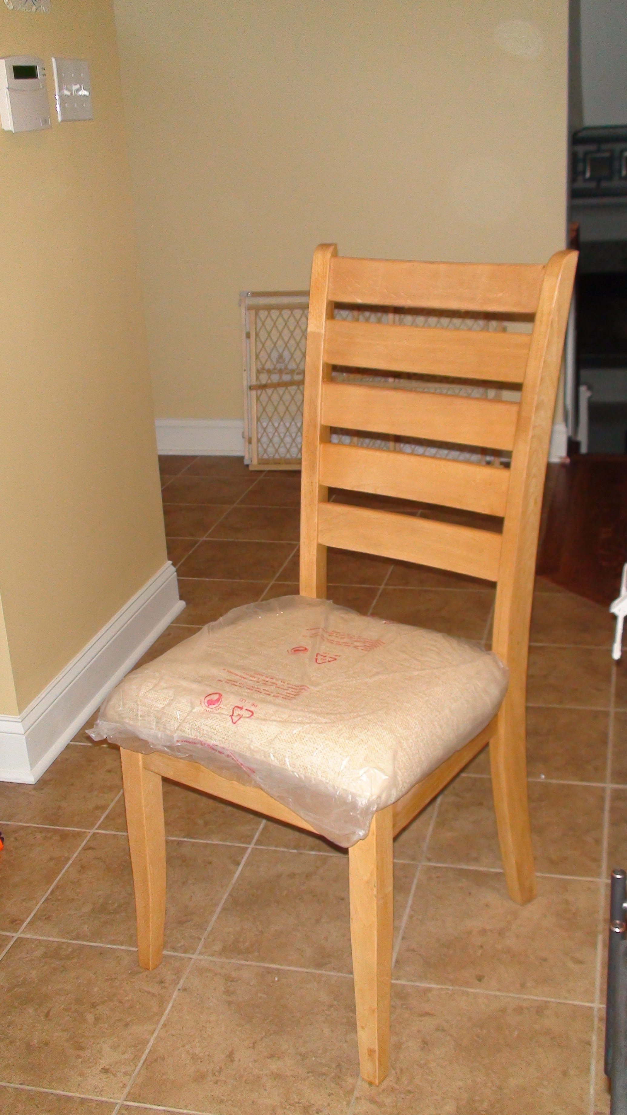 Reupholstered Kitchen Chairs One Home Made