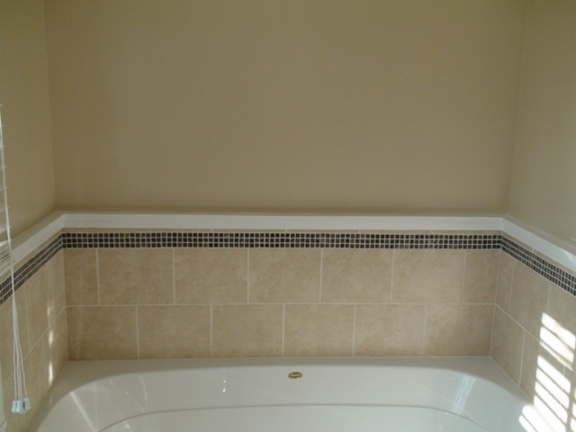 Master Bathroom Trim Grout Paint One Home Made - Bathroom tub molding