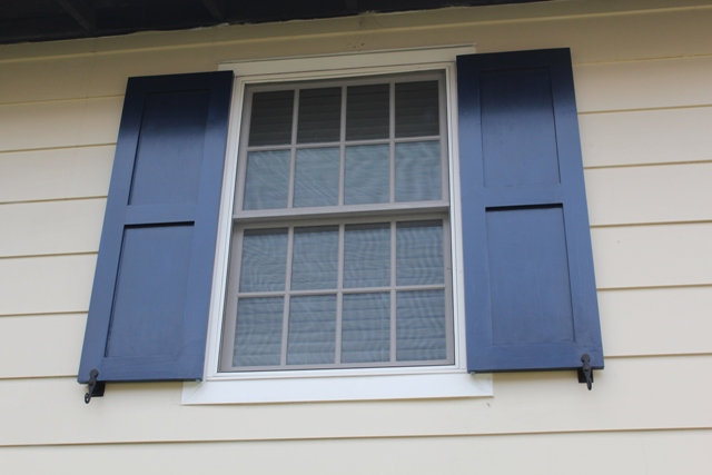 diy working exterior shutters for windows | One Home Made