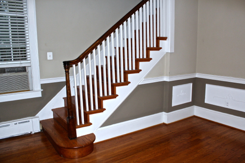 Wainscoting that was installed in the house at the time of purchase. Definitely not original to the home!