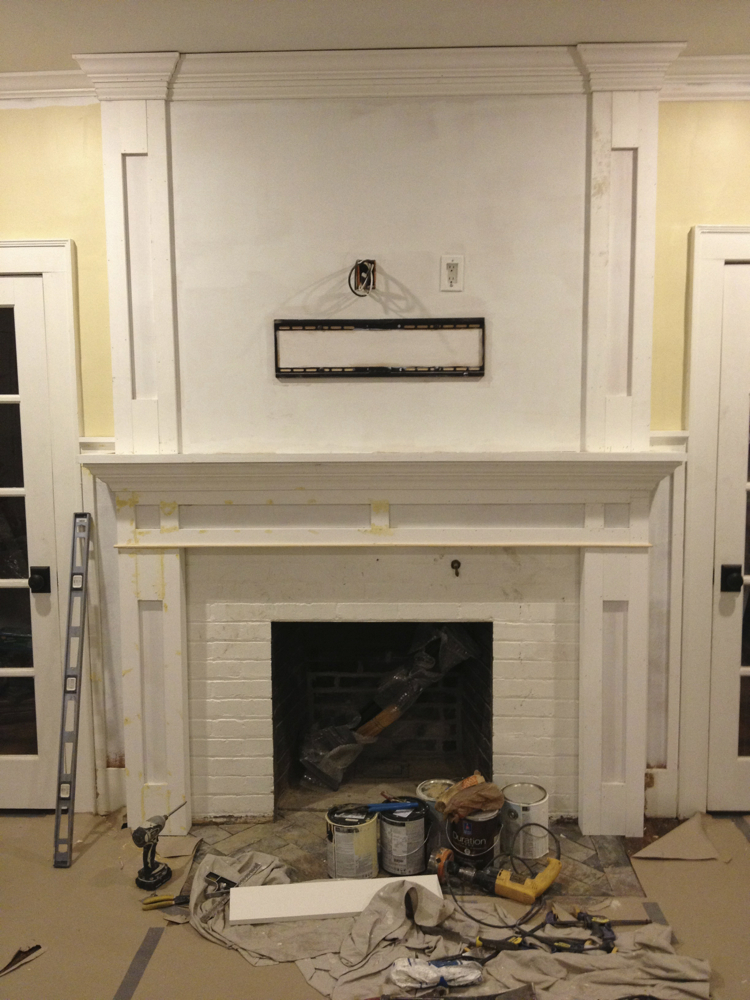 Fireplace Beautification One Home Made
