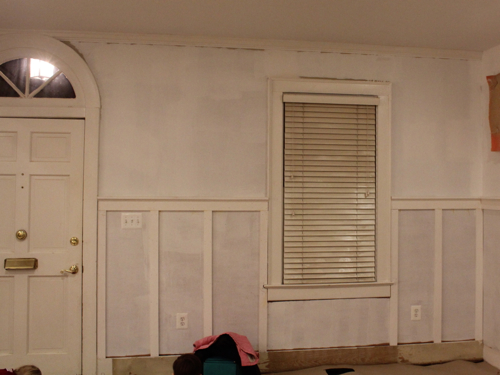 Wainscoting progress.