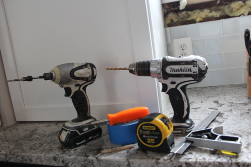 tools for cabinet hardware installation