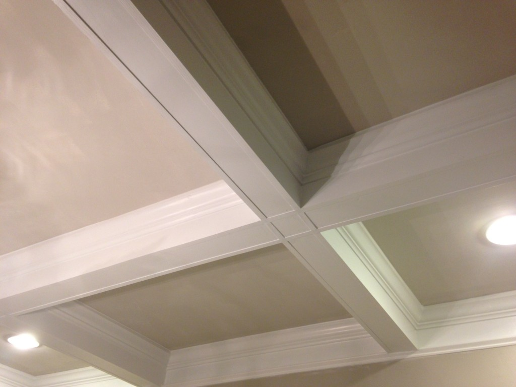 Dining room coffered ceiling1