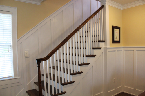 Wainscoting completed.