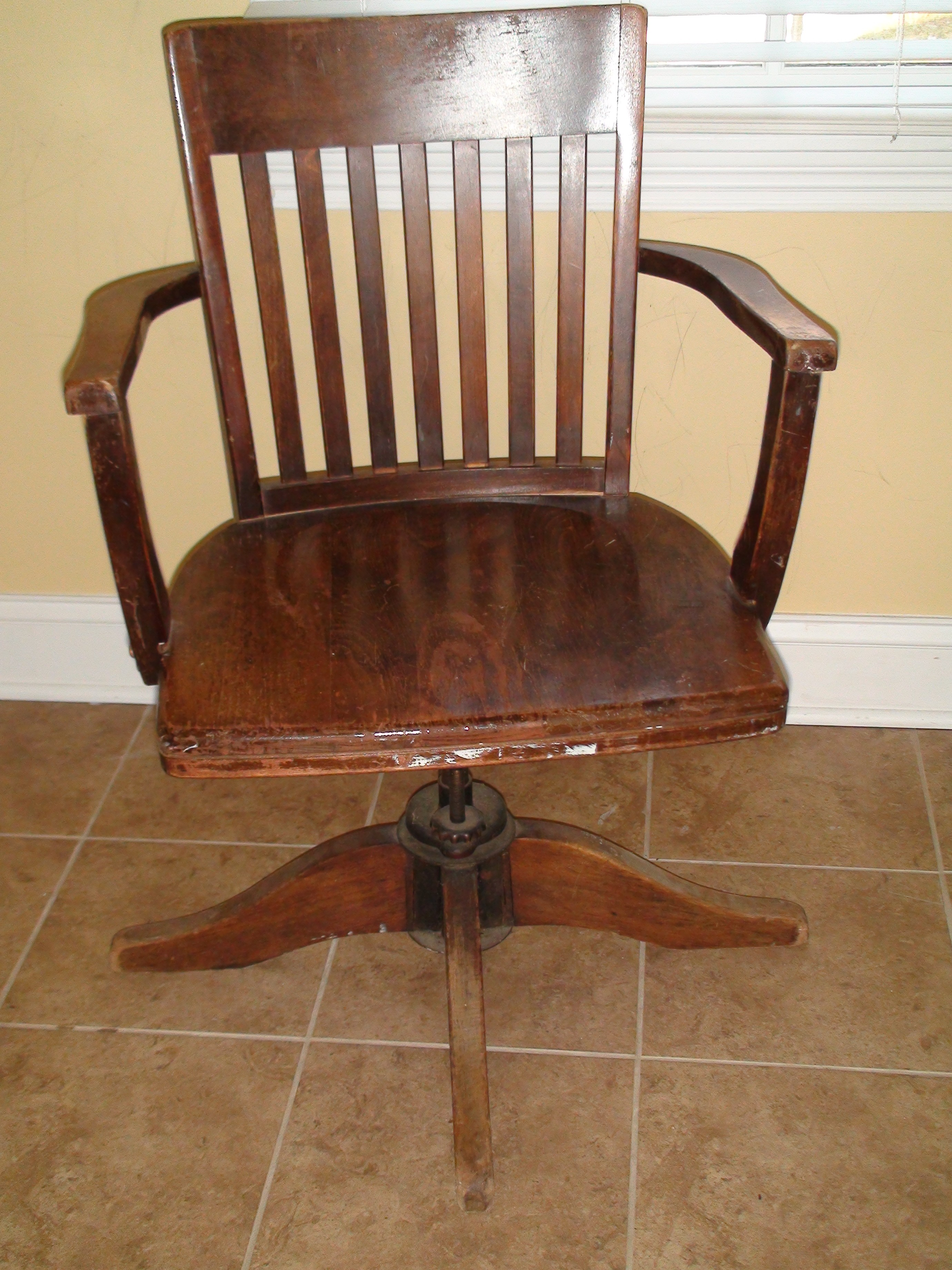 antique wooden desk chair Home Office: Refinishing an Antique Desk & Chair | One Home Made antique wooden desk chair