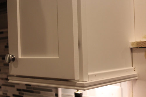 Light Rail Above Refrigerator On Upper Cabinets The Range
